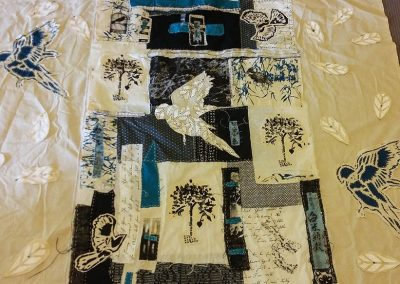 FB Jan Lobban - Bird and feather quilt in progress